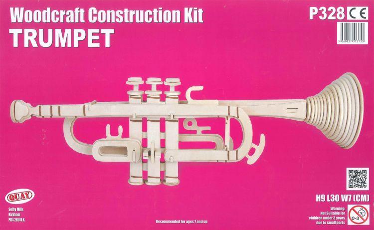 Woodcraft Kit Trompete Holzbausatz