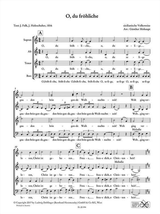 Weihnachtslieder Für Kinderchor Noten.Weihnachtslieder Gemch